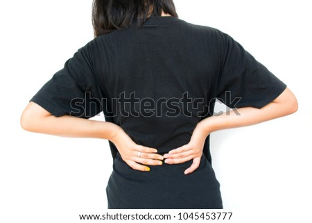 working women have back pain caused stock photo royalty free