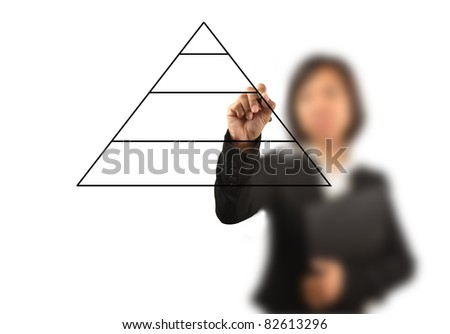 working women write business diagram