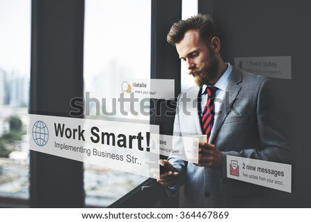 Working Work Effective Productive Step Planning Concept - stock photo
