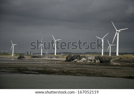 Workington, wind turbines, Cumbria, UK