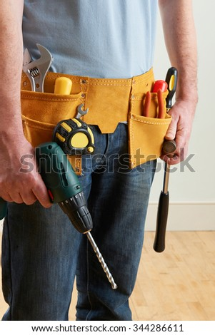 Workman Wearing Toolbelt