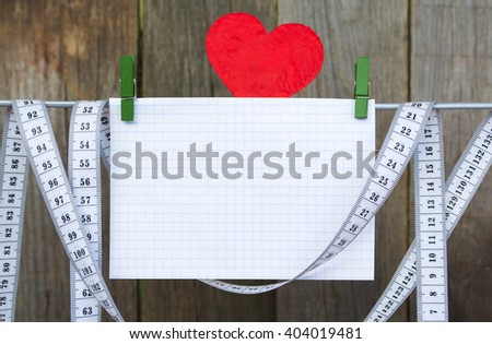 Workout and fitness dieting copy space diary. Healthy lifestyle concept. - stock photo