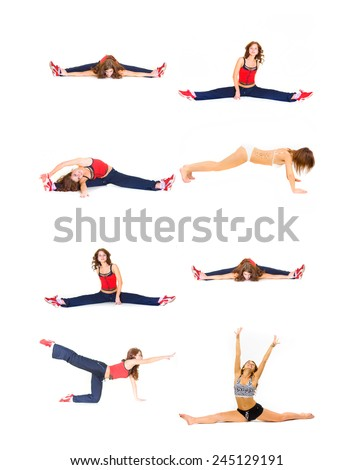 Workout Beauty Isolated Fitness  - stock photo