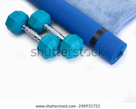 Workout tools for healthy male results - stock photo