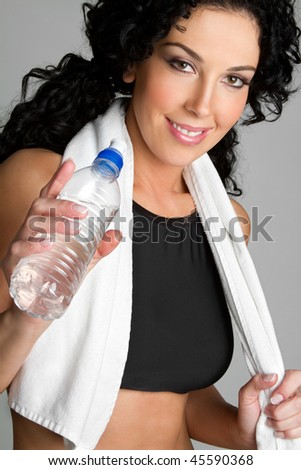 Workout Water Bottle Girl