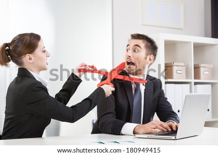 Workplace conflict - stock photo