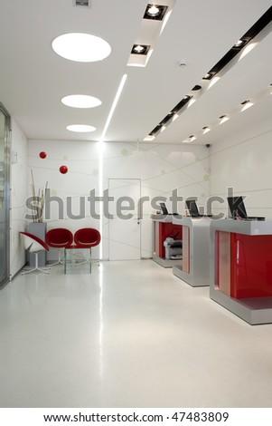 workplace interior - stock photo