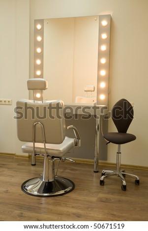 Workplace makeup artist - stock photo