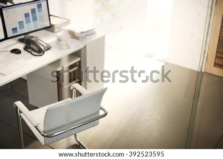 Workplace Place of Work Marketing Data Concept - stock photo