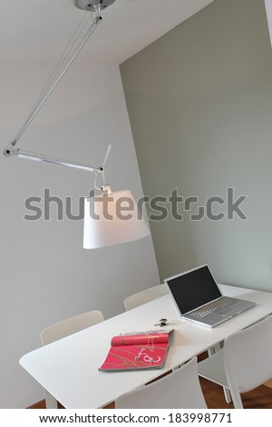 Workplace with computer, close up  - stock photo