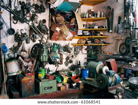 Workshop equipment - stock photo