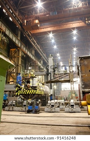Workshop of machinery plant - stock photo