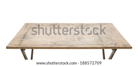 Workshop table top, isolated - stock photo