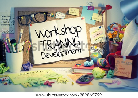Workshop Training Development Concept - stock photo