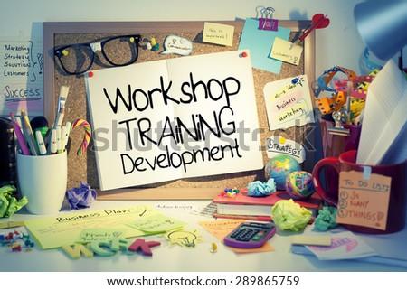 Workshop Training Development Concept - stock photo