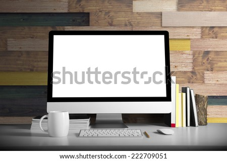Workspace background - stock photo