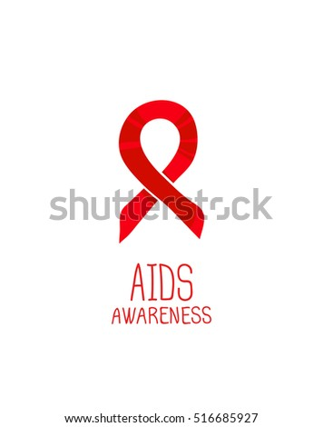World Aids Day 1st December Poster Stock Illustration ...