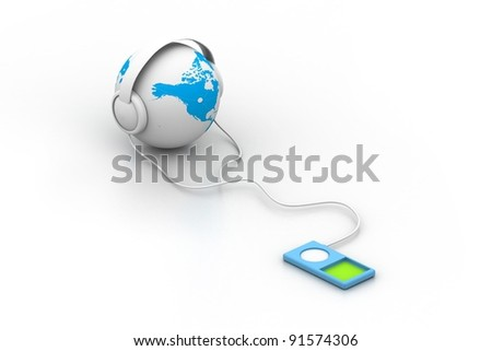 World and music - stock photo