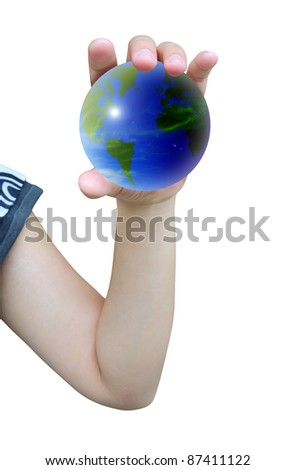 world and women hand holding