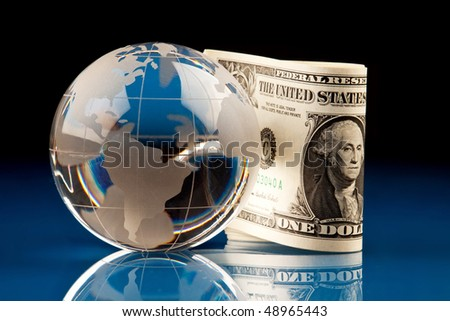 World ane money, dollar - stock photo