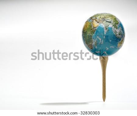 world ball - stock photo