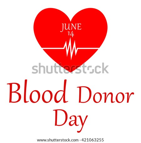 World blood donor day-June 14th - stock photo