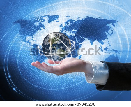 World business connection concept - stock photo