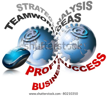 World business gears - stock photo