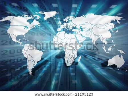 World business illustration - stock photo