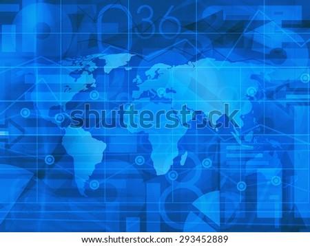 World Business News Background - stock photo