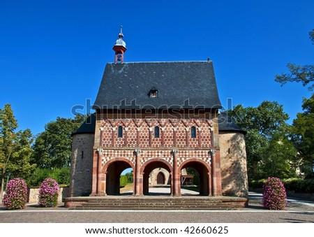 World culture heritage monastery Lorsch - stock photo