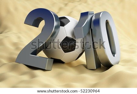 World Cup football in Africa - stock photo