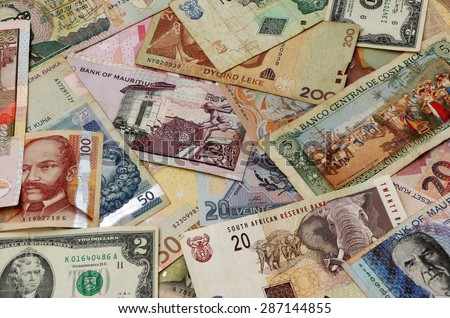 World Currencies - stock photo
