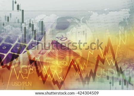 World Currency Forex Trade. Currency Trading Conceptual Graphic. - stock photo