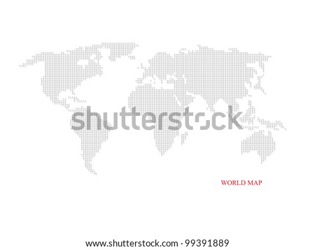 World dotted map for business concept - stock photo