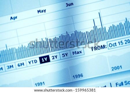 World economics graph. Finance concept.  - stock photo