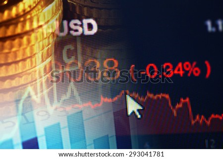 World economics graph. Finance concept. - stock photo