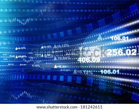 World economics graph. stock market chart . Finance concept - stock photo
