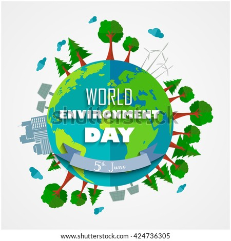World environment Day background for symbols on clean earth