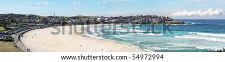 World famous Bondi beach in Sydney, Australia - stock photo