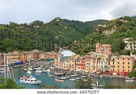 World famous Portofino village, Italy. - stock photo