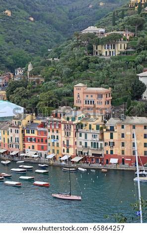 World famous village Portofino, Italy. - stock photo