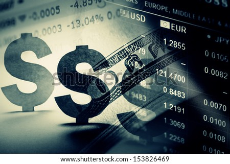 World financial data on a monitor. Finance data concept.  - stock photo