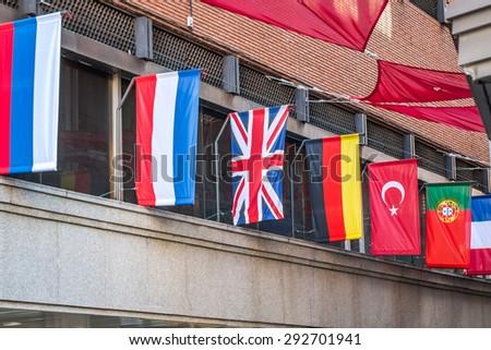 world flags - stock photo