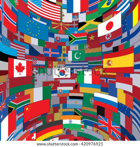 World Flags Background. Ready for Your Text and Design. - stock photo