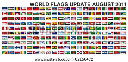 WORLD FLAGS Gallery Update August 2011 New flag of Costa Rica - stock photo