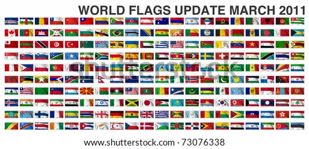 WORLD FLAGS Gallery Update March 2011 New flag of Malawi and Myanmar - stock photo