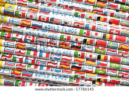 World flags pencil