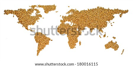 World from wheat - stock photo