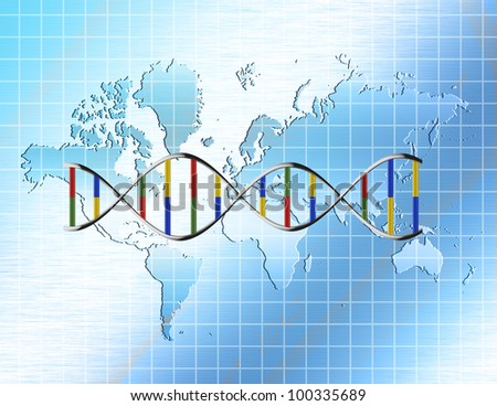 World Genetic - stock photo